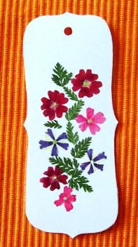 pressed flowers bookmark