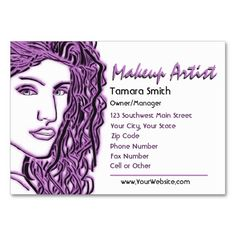 Black, White And Pink Beauty Makeup Artist Business Card. This beautiful business card design is available for customization. All text style, backgrounds, colors and sizes can be modified to fit your needs. Just click the image to learn more.