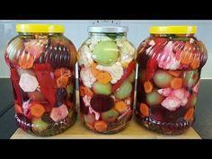 Gogonele asortate in saramura - YouTube Mason Jars, Make It Yourself, Youtube, Canning, Salads, Mason Jar, Youtubers, Youtube Movies, Glass Jars