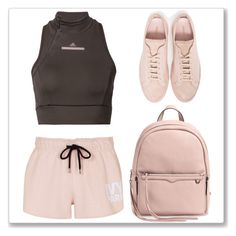 """Think Pink"" by cherieaustin ❤ liked on Polyvore featuring adidas, Common Projects, Topshop and Rebecca Minkoff"