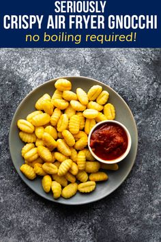Air fryer gnocchi is so crispy, is ready in just 13 minutes and does not need to be boiled! This is a great side dish alternative to potatoes or pasta, and also makes a great snack. #sweetpeasandsaffron #airfryer #gnocci #sidedish #easydinner #vegetarian #mealprep #makeahead Gnocchi Pasta, Pasta Alternative, Dumpling, Easy Dinners, Meal Prep, Side Dishes, Potatoes, Vegetarian, Snacks