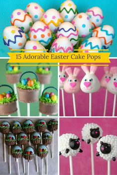 15 Adorable Easter Cake Pops - Baking Smarter Bunnies, chicks, and baskets are just a few of the Easter cake pop ideas that can become part of a new, tasty Easter tradition. Easter Egg Cake Pops, Easter Bunny Cake, Easter Eggs, Funfetti Cake Pops Recipe, Cake Pop Bouquet, Chocolate Cake Pops, Chocolate Covered, Valentines Day Cakes, Almond Cakes