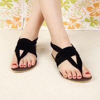 Wish   2015 Women Flat Heel Flip-Flop Flip Casual Sweet Sandals For Woman Shoes plus size 36-41