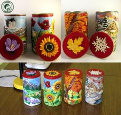 all polymer clay cans :) - FOR SALE ! by Ladybird18 on DeviantArt