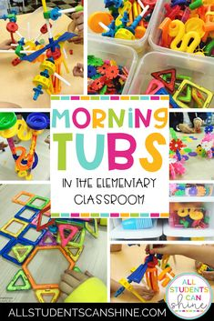 This post talks about first grade fun ideas to start your morning with. My morning tubs include a variety of fun activities for kids. #educationblogs #tptblogs #education #teachingstuff