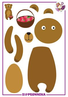 peonnika_zveri.pdf Zoo Crafts, Preschool Arts And Crafts, Animal Crafts, Diy Crafts For Kids, Art For Kids, Paper Crafts, Felt Animal Patterns, Toddler Learning Activities, Autumn Crafts