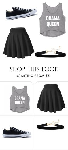 """Drama Queen "" by swalls03 ❤ liked on Polyvore featuring Converse"
