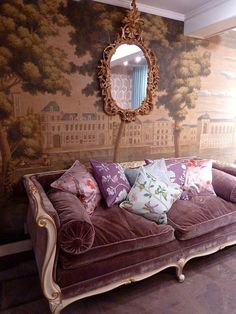 Paris wallpaper on pinterest vintage paris bedroom kids wallpaper and fabr - Banquette lit vintage ...