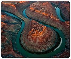 """The Loop Canyonlands National Park Customizable Gaming Mouse Pad 240x200x3mm(9.45""""x7.87""""x0.12"""") by iCustom&Shop Mouse Pads http://www.amazon.com/dp/B017I4WZJY/ref=cm_sw_r_pi_dp_wNfowb1V9WZVE"""