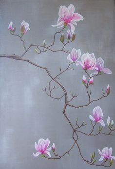 Magnolia. Acrylic on canvas by Rob Cosby