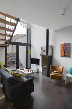In beeld: de gevel van dit smal rijhuis verbergt een verrassende woning met speelse niveauverschillen - Renovatie - Ik Ga Bouwen Mobile