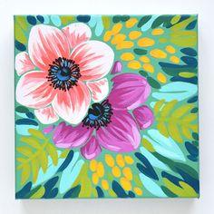 Lisa - acrylic on canvas Summer Painting, Diy Painting, Gouache Painting, Mini Canvas Art, Posca, Easy Paintings, Acrylic Art, Botanical Art, Painting Inspiration