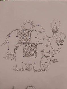 Indian Rangoli Designs, Rangoli Designs Latest, Simple Rangoli Designs Images, Rangoli Border Designs, Rangoli Designs With Dots, Rangoli With Dots, New Mehndi Designs, Beautiful Rangoli Designs, Rangoli Drawing