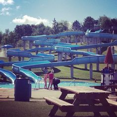 This is what I got to do at work today.. Happy Friday everyone logosland waterslides fun