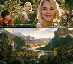 """Jesse: """"What do we call this place?"""" Leslie: """"We'll call it: 'The Place Where I'm Going To Make You Fall In Love With Me And We'll Live Happily Ever After In.'"""" J: """"..."""" L: """"But for now, we'll just call it 'Terabithia.'"""" ❤❤❤❤❤"""