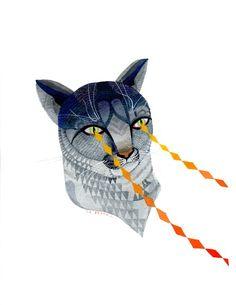 laser puma  print by medusawolf on Etsy, $15.00