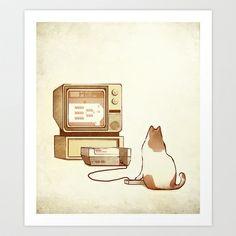 NES Cat  Art Print by DB Art - $17.00