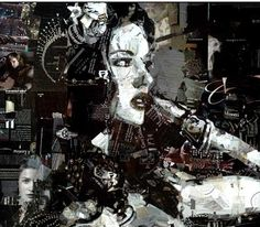 derek gores collage derekgores.com art #nudeart #figurativeart #collage #collageart #sexyart #nudenite #spokeart #scope #bedazzled