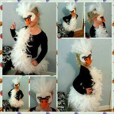 Kelsi's Swan costume 2013 - Kids costumes Clever Costumes, Diy Costumes, Halloween Costumes, Book Day Costumes, Book Week Costume, Bird Costume, Swan Costume Diy, Halloween 2016, Halloween Birthday
