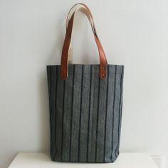 4035f33622 Denim Tote Bag Genuine Leather Handles12.5x13.6x4.5inch by iwang