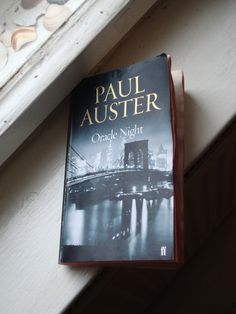Oracle night by Paul Auster. -that description of the blue notebook makes me want to start writing Paul Auster, Start Writing, Book Worms, Authors, Palm, Novels, Notebook, Hero, Watch