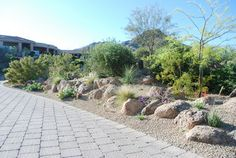 Use of boulders on slope/berm