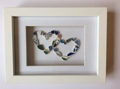 Love heart picture Scottish sea pottery art by ThreeLittlePirates