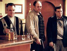 Paulie 'Walnuts' Gualtieri (Tony Sirico), Tony Soprano (James Gandolfini) & Silvio Dante (Steven Van Zandt) in The Sopranos 📺⠀⠀⠀ . Arabic Characters, Gossip Column, Detective Aesthetic, Best Series, Tv Series, Mafia Gangster, Tony Soprano, American Crime, Muse Art