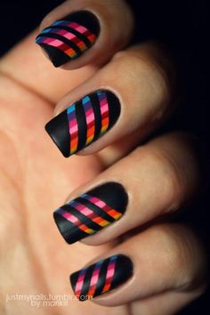 rainbows http://justmynails.tumblr.com/ #nail #nails #nailart