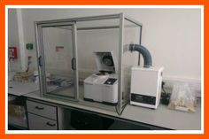 Cabina de perfil de aluminio MiniTec con sistema de aspiración
