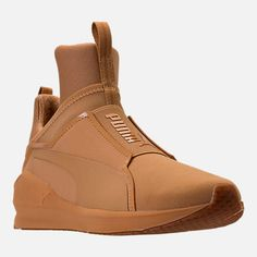 Puma Women's Fierce Nubuck Naturals Casual Sneakers from Finish Line - Tan/Beige 11 Casual Sneakers, High Top Sneakers, Shoes Sneakers, Women's Shoes, Training Sneakers, Training Shoes, Pumas Shoes, Shoe Game, 5 D