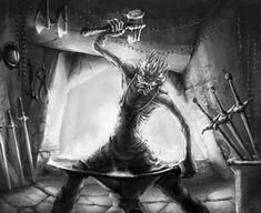 Goblin Blacksmith by TeroPorthan on DeviantArt Iron Maiden Cd, Raise The Dead, Face Expressions, Mythical Creatures, Goblin, Blacksmithing, Mythology, Beast, Deviantart