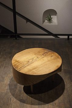 coffe table DOT, massive oak, diameter cca 80 cm Coffe Table, Outdoor Furniture, Outdoor Decor, Ottoman, Chair, Home Decor, Stool, Interior Design, Home Interior Design