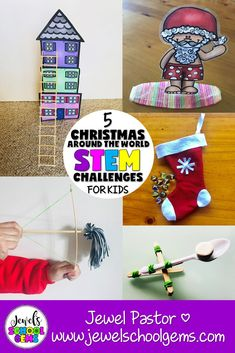 Christmas Around the World STEM Activities and Challenges for Kids by Jewel's School Gems Christmas In Egypt, Christmas In Germany, Christmas In Italy, Christmas In Australia, Simple Christmas, Stem Activities, Activities For Kids, Classroom Activities, Classroom Ideas