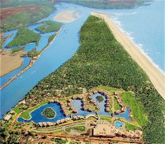 The Leela Goa Surrounded by gardens and blue lagoons The Leela Goa Beach Resort offers luxurious rooms with a DVD player. Facilities include a golf course and an outdoor pool. Free Wifi is available. Best Resorts, Hotels And Resorts, Best Hotels, Luxury Hotels, Top Hotels, Luxury Travel, Travel Destinations In India, India Travel, India Trip