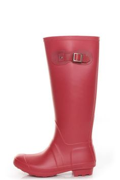 Bamboo Padinton 01 Red Rubber Rain Boots