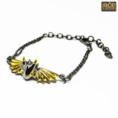 This black knight dragon bracelet is handcrafted from gold and black rhodium plated over brass. It has an adjustable length of 14 - 19 cm circumference. Dragon Bracelet, Dragon Ring, Dragon Jewelry, Black Rhodium, Stud Earrings, Ring Necklace, Jewelry Collection, Knight