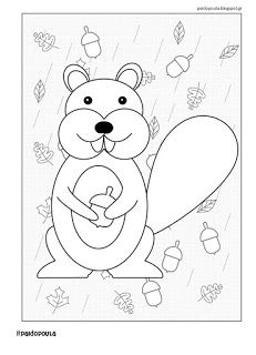 #paidopoula: Ζωγραφίζουμε τα ζώα του δάσους Coloring Pages, Snoopy, Symbols, Letters, Activities, Fall, Blog, Colour, Fictional Characters