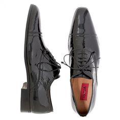 Weddbook ♥ su misura di brevetto scarpe da sera in pelle, Isaia. Groom scarpe idea