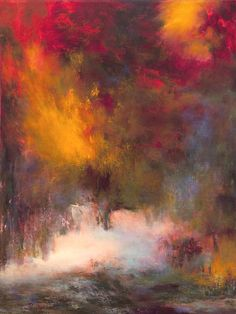 Buy Prints of Passions, Boulogne forest (# 7016-A, Dyptich), an Acrylic Painting on Canvas, by Rikka Ayasaki from France, Not for sale, Price is $, Size is 31.5 x 23.6 x 2 in.