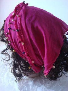 Cotton Scarf  Turkish Scarf  Headband  Bandana by mmelike on Etsy, $14.00