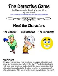 Pay Attention!  The Detective/Director Strategy Card Game