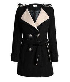 Tailored Collar Double Breasted Coat