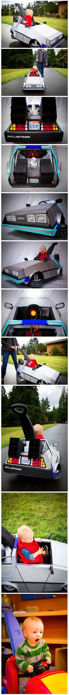 Mom Loves Back to the Future, Creates Time Machine for Baby Son - TechEBlog