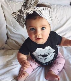 This is a really cute baby! I love the outfit