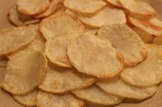 Fat Free Homemade Potato Chips. Sooo good! #WeightWatchers Power Food.