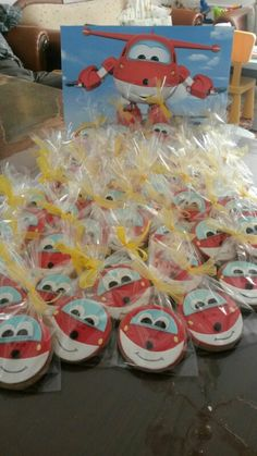 Superwings Jett cookies birthday party