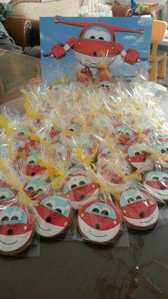 Superwings Jett cookies birthday party