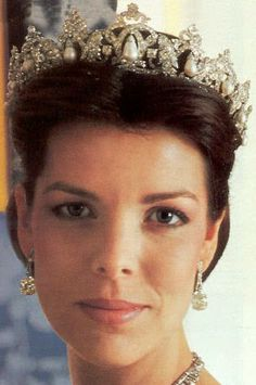 Tiara Mania: Pearl Drop Tiara worn by Princess Caroline of Monaco