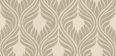 Algeria (EW7655) - Today Interiors Wallpapers - An elegant feathered design creating a pretty oval trellis effect – shown here in metallic silver on an off-white. Please ask for sample for true colour match.